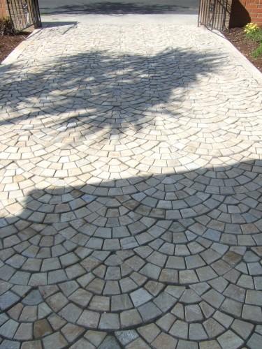 Quartzite driveway