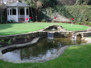 Pond with two upper pools and rills
