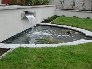 Granite rill water feature