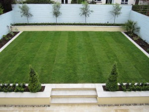 New lawn, fencing and beds
