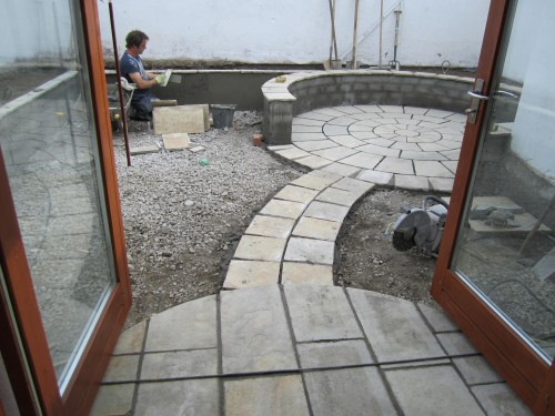 During landscaping