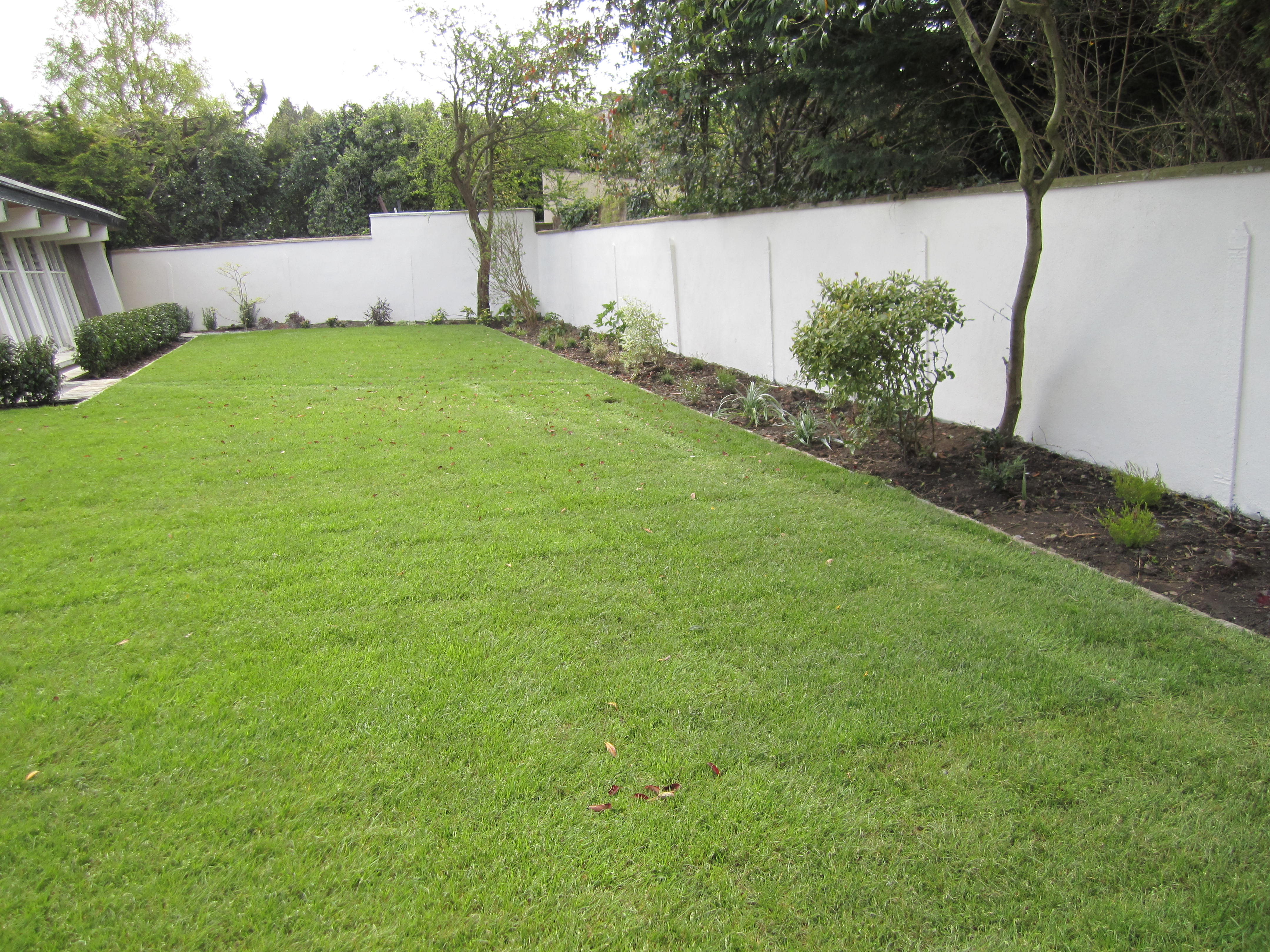 Landscapers contract and garden design for churchtown dublin for North facing back garden designs