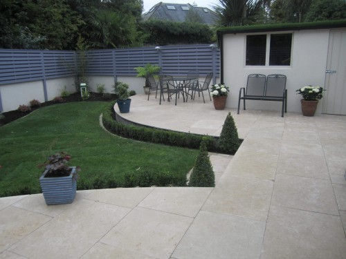 Egyptian limestone patio