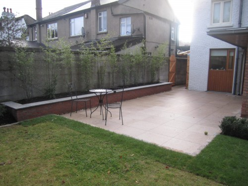 Patio & raised bed