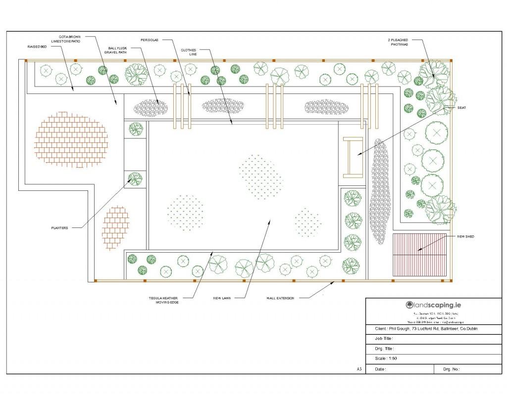 Garden design contract : Landscapers contract and garden design for ludford rd ballinteer co