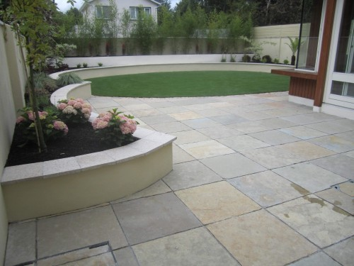limestone patio