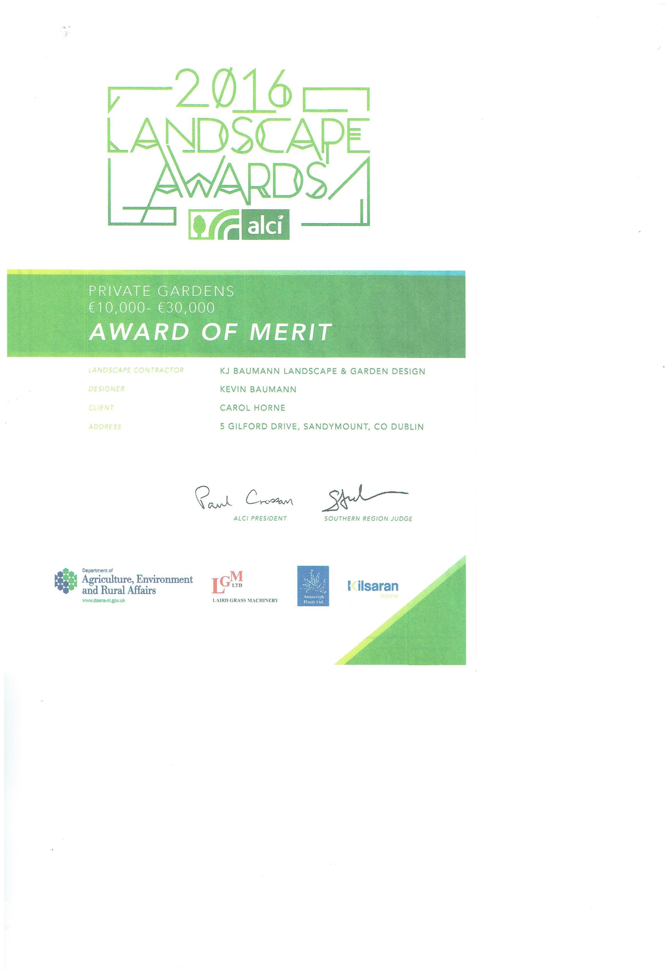 Landscaping Award
