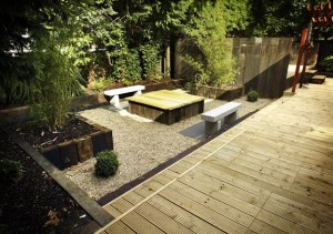 Sunken Seating Area