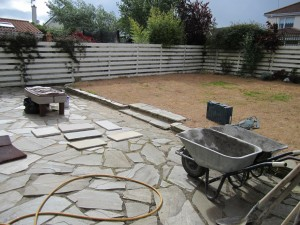 Existing Donegal patio
