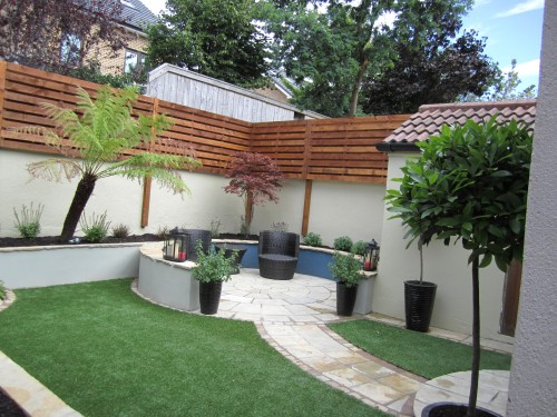 After landscaping