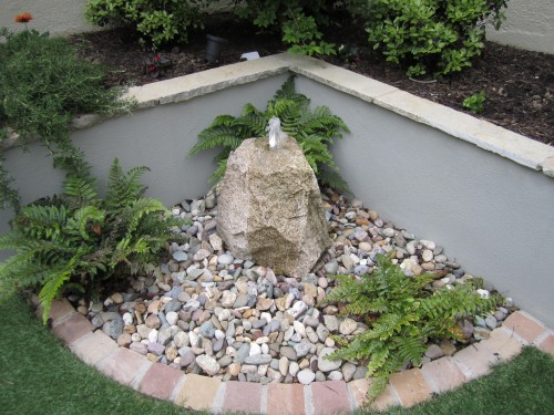 Granite boulder waterfeature