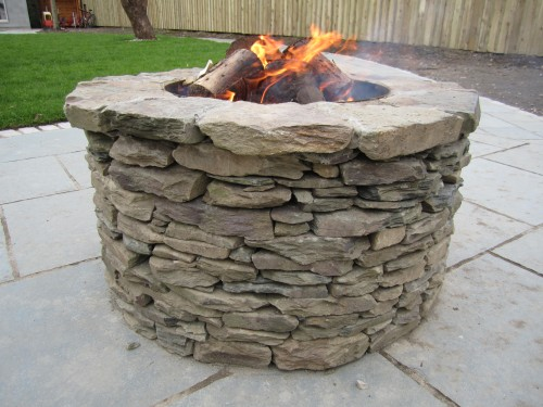 50cm high finished fire pit