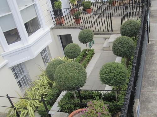 Tiered front garden
