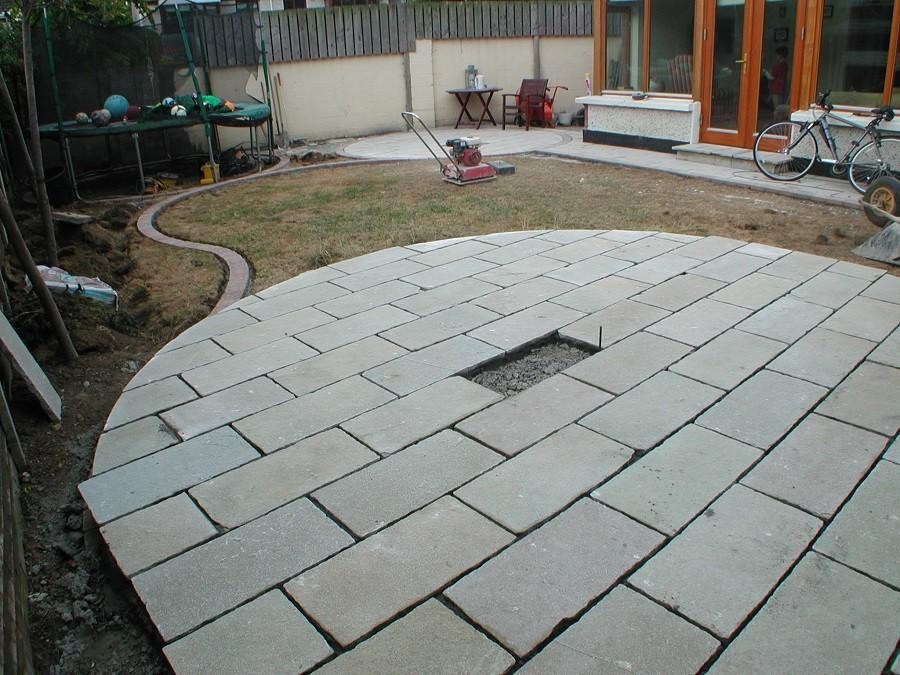 Raised limestone circle