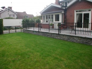 New lawn and Railings