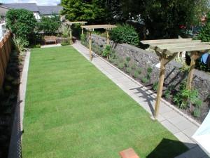 New lawn and pergolas