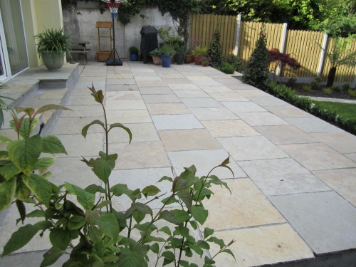 After work, Cota brown limestone patio